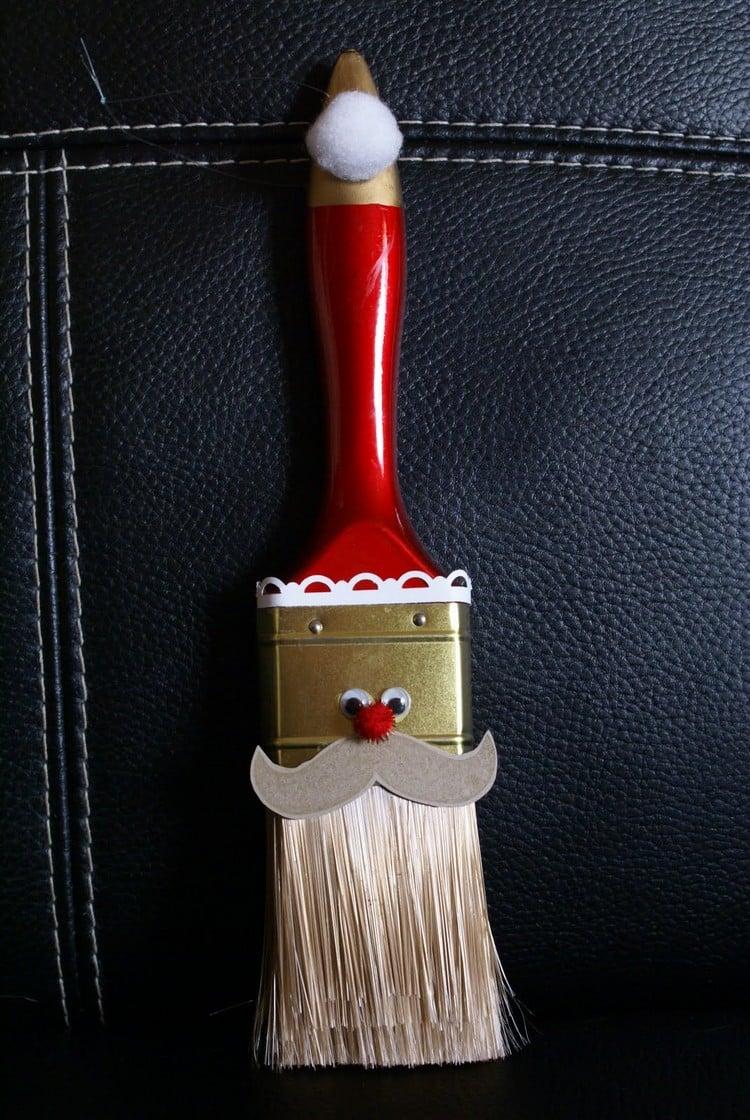 Weihnachtsmann basteln Farbpinsel