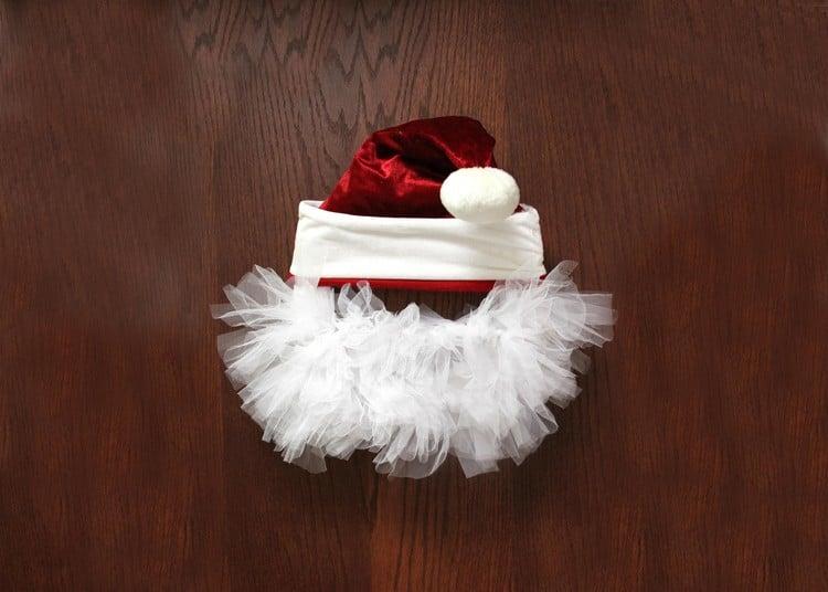 Weihnachtsmann basteln originell Stoff