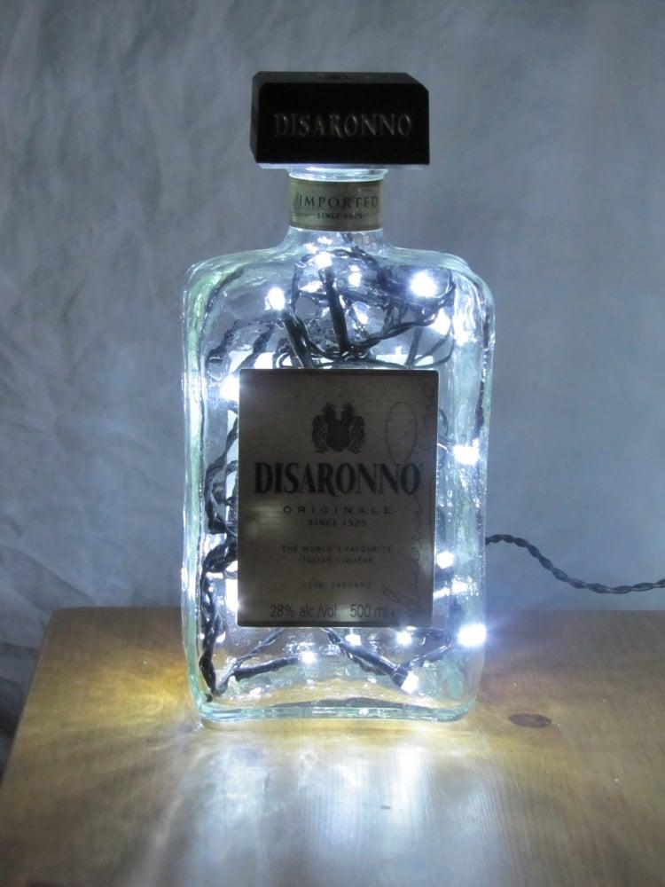 Lampe aus Flaschen Lichterkette DIY