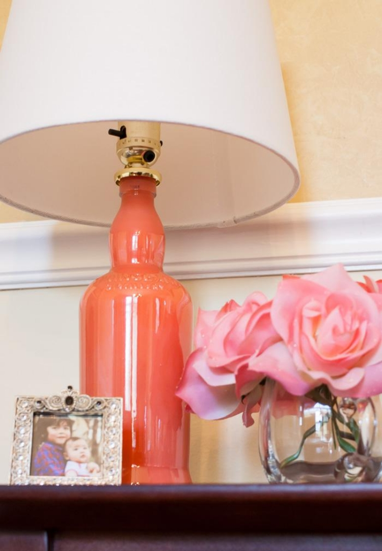 Lampe aus Flaschen tolle Stehlampe Lampenschirm