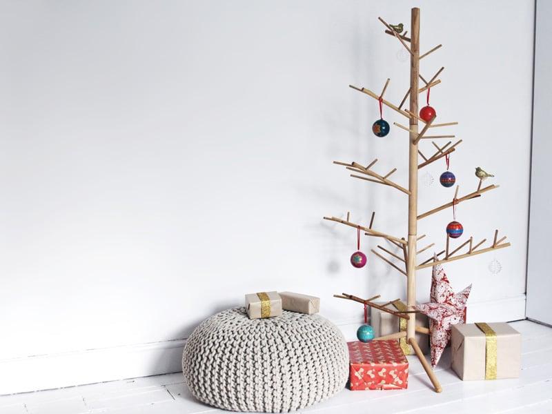 Holz Weihnachtsbaum für ein modernes Fest