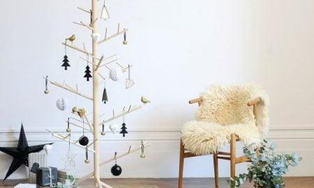 Holz Weihnachtsbaum basteln DIY Anleitung