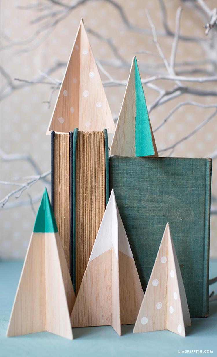 Kleine Christbäume Ideen für Weihnachtsdeko