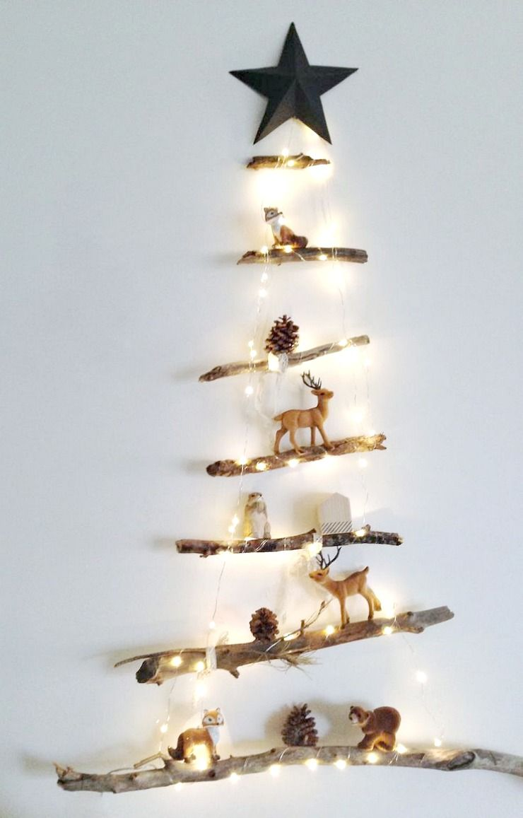 Holz Weihnachtsbaum aus Naturholz