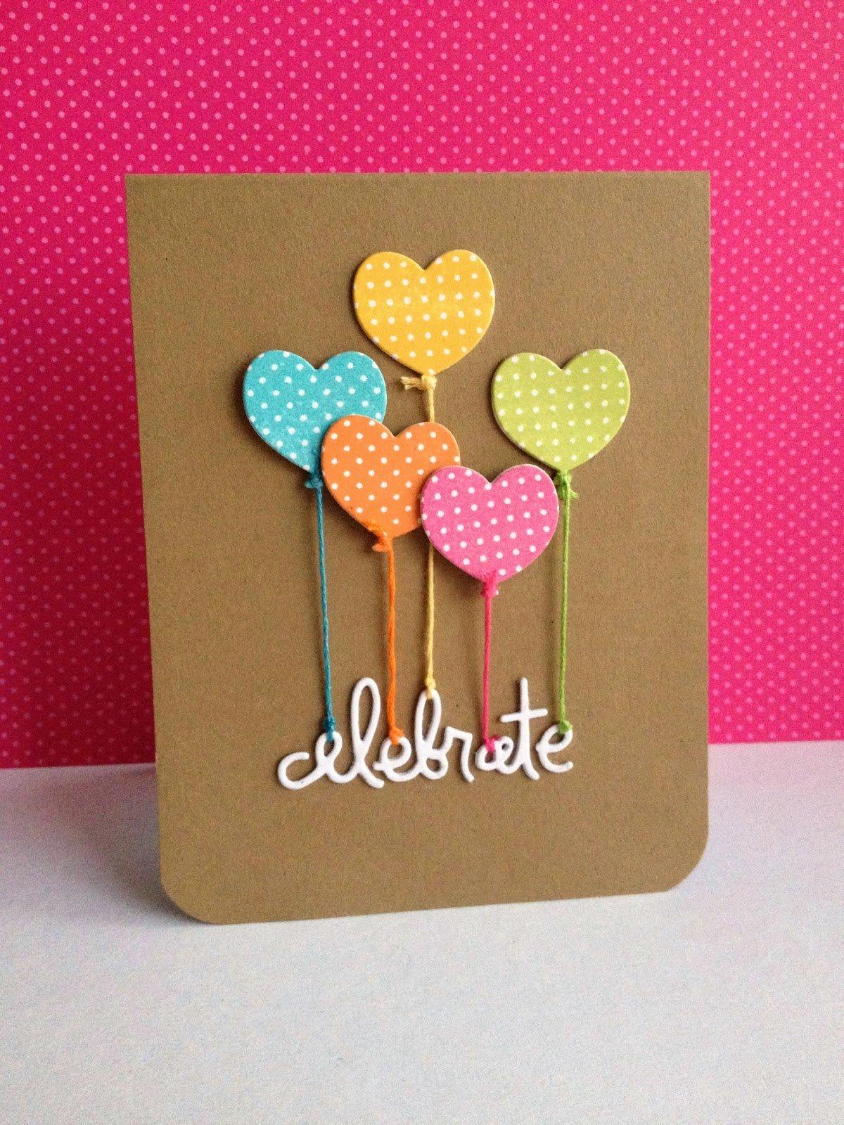 Ballons, Herzen und viele lustige Ideen für Karten selber basteln