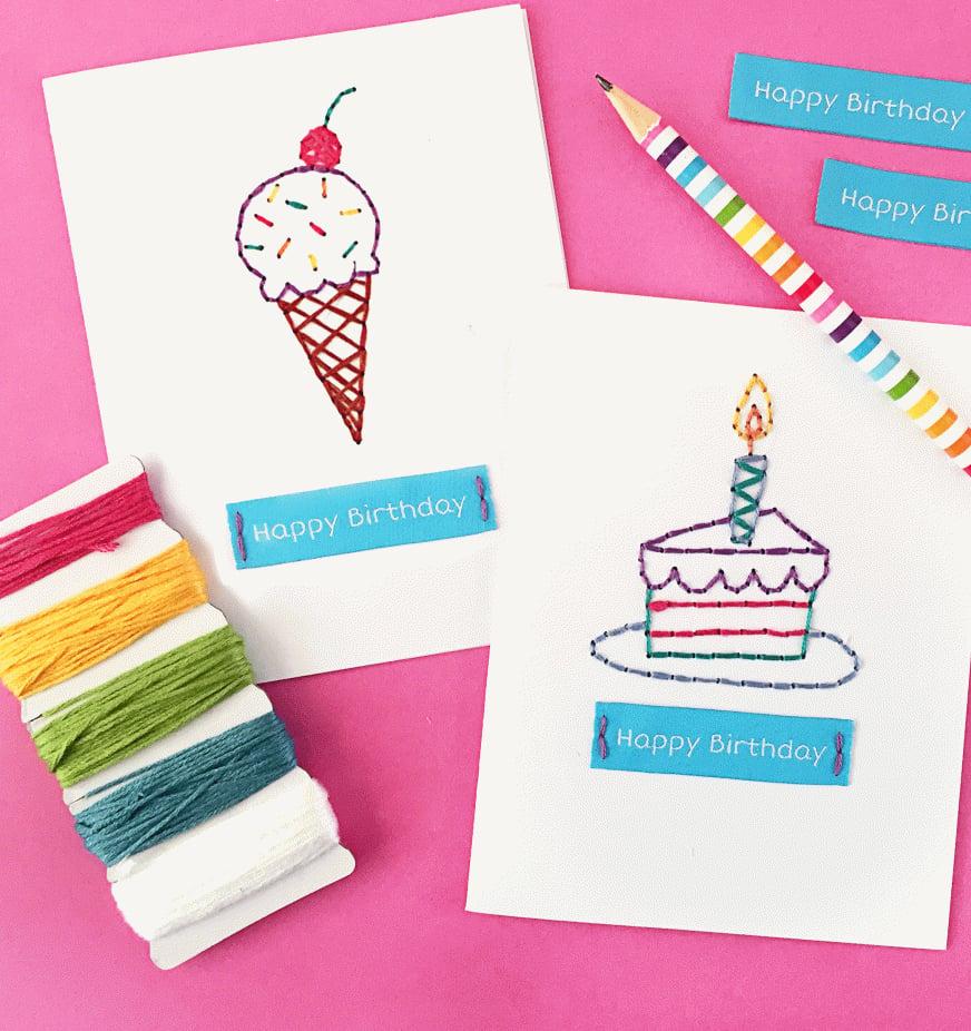 Geschenkkarten selber basteln für Geburtstag und andere Anlässe
