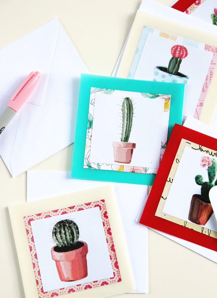 Karten selber basteln mit Wasserfarben