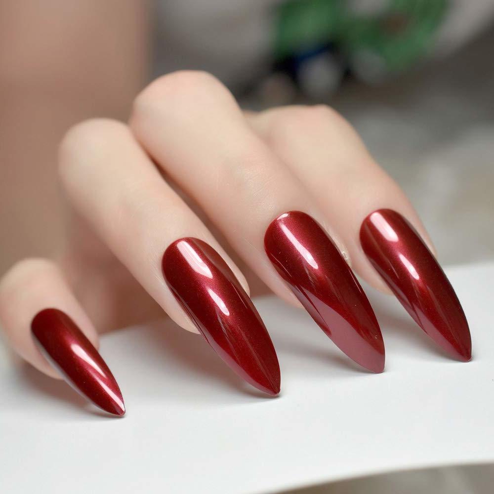 Nägel Spitz und Gelnägel Formen in Rot ist die perfekte Entscheidung für die ausgefallenen Damen