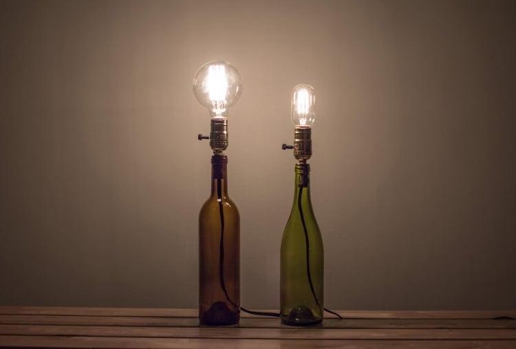 Lampe aus Flaschen herrliche Stehlampen industriell