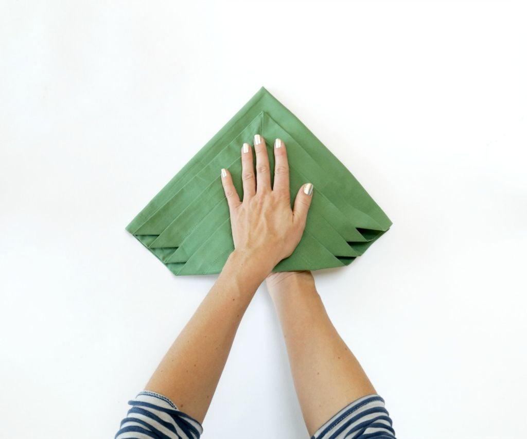 Falten Servietten DIY Weihnachtsdeko