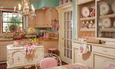 Shabby Küche in rosa Ideen und Inspirationen