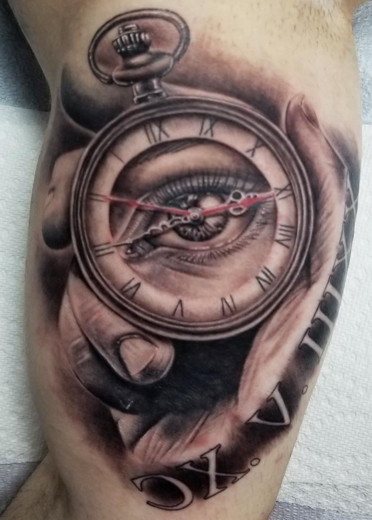 Tattoo Taschenuhr Augen Tattoo Motiven