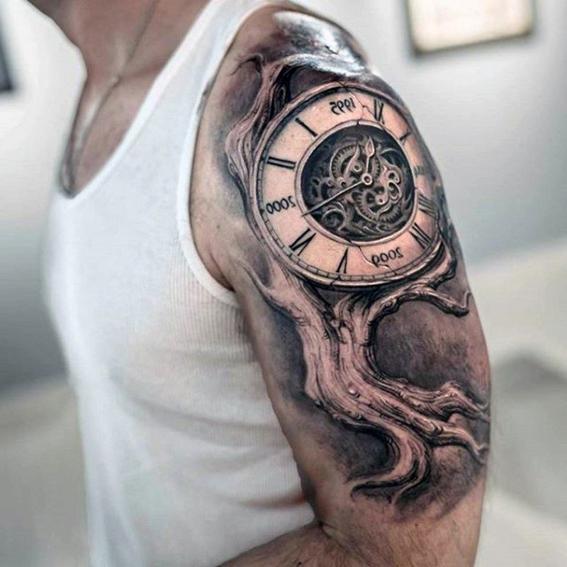 Tattoo Taschenuhr Lebensbaum Tattoo