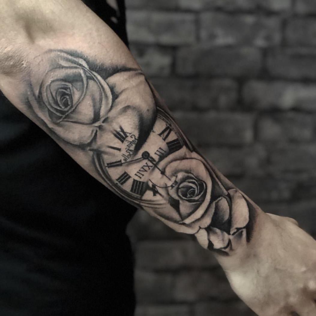 Tattoo Totenkopf Rosen Tattoo