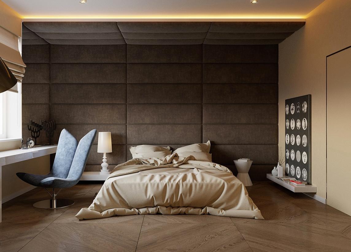 Deko für Schlafzimmer und Ideen für Bett ohne Kopfteil