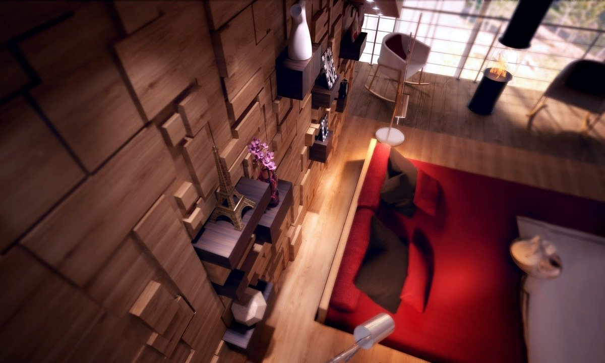 Aufgestapelte Wand Behandlung und Vielfalt von Deko Ideen für das Schlafzimmer