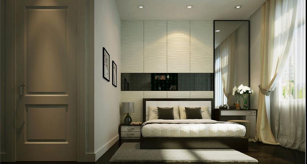Helle Farben und dunkle Akzente für das Interieur Ihres Schlafzimmers