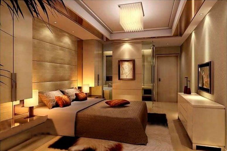 Wanddeko in Beige macht das Schlafzimmer gemütlicher