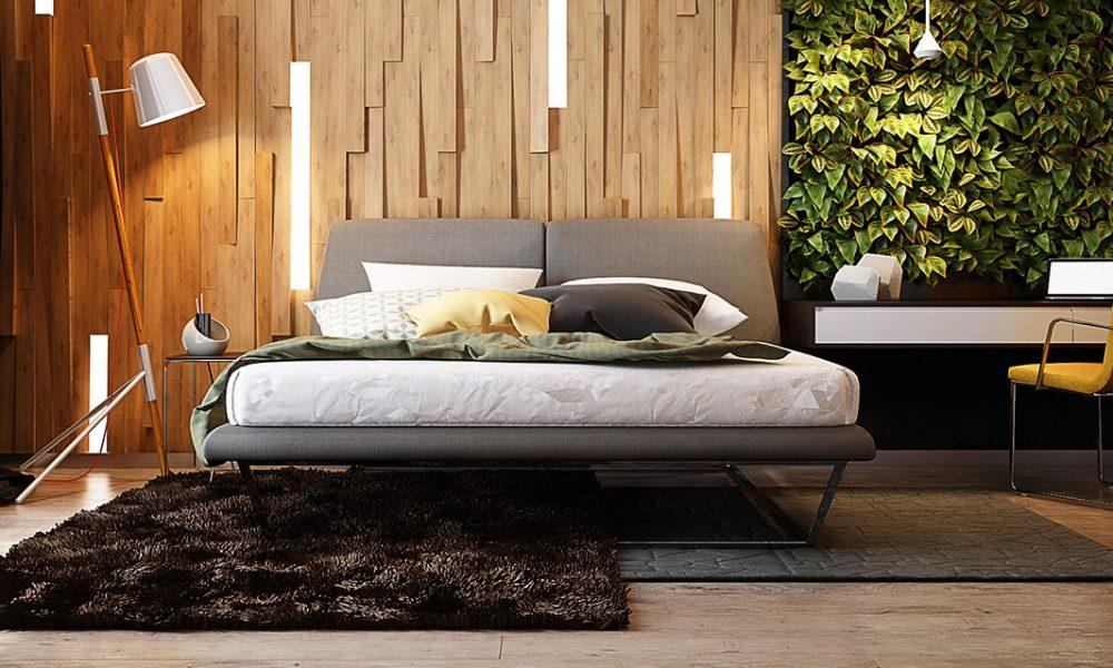 Schlafzimmer Deko Ideen und moderne Inspiration aus Holz und andere Materialien
