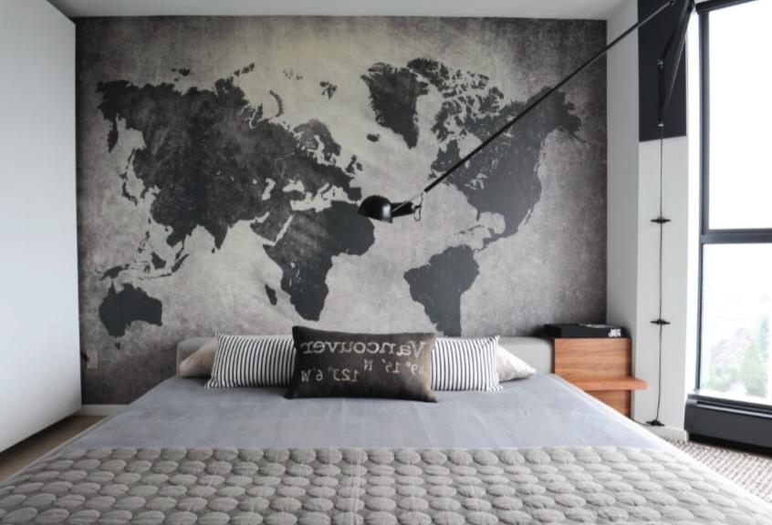 Weltkarte auf Ihre Wände und viele Ideen für das Deko Schlafzimmer