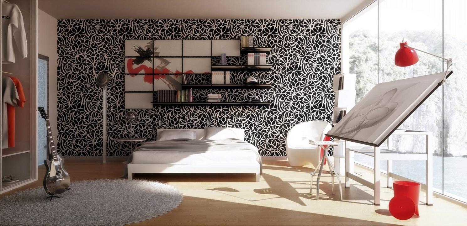 Hier finden Sie mehr Ideen für Fototapeten, Regalen und Bilder für das Deko für Schlafzimmer