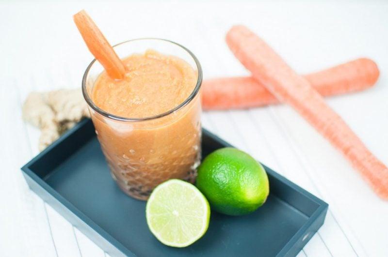 Erfrischungsgetränk Karotte Limette