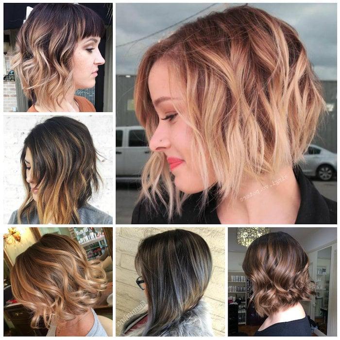 Balayage kurze Haare Haarstyling Ideen für Damen