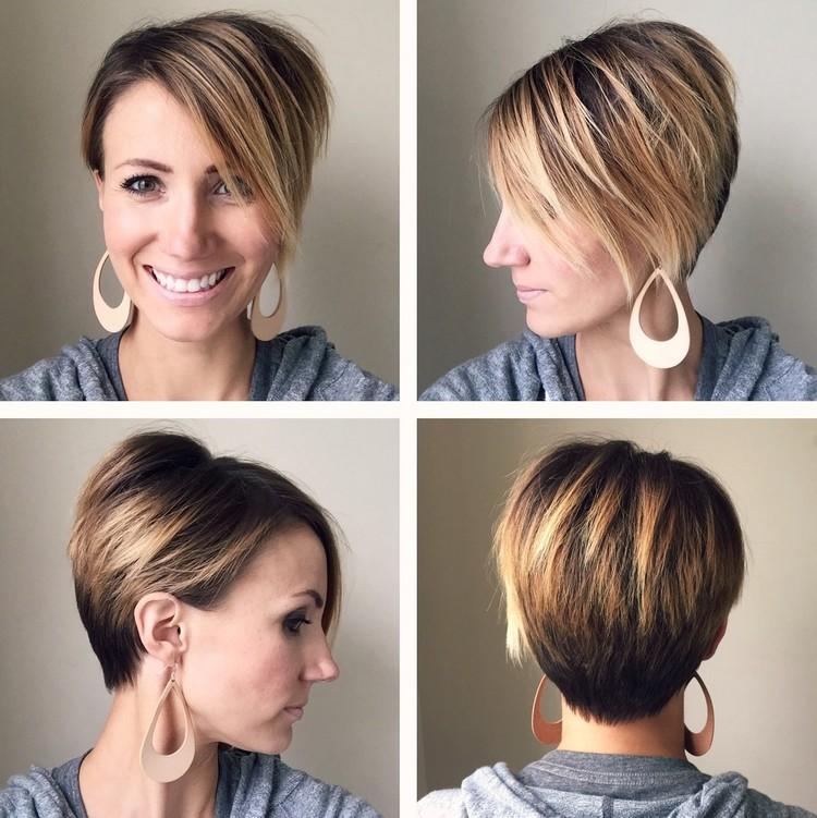 Balayage kurze Haare Pixie Cut