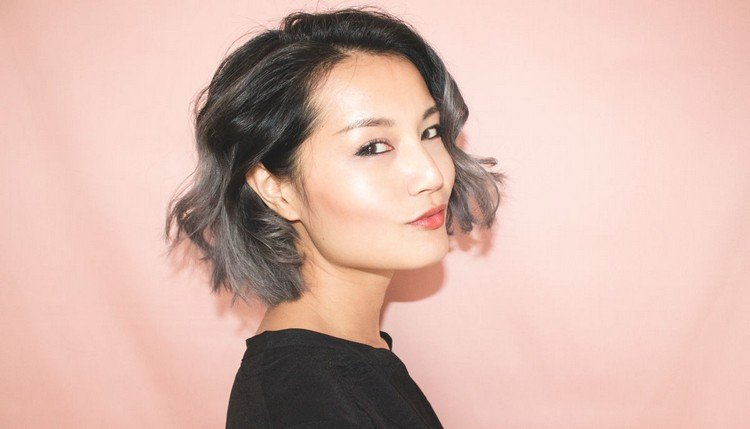 Balayage kurze Haare modern grau