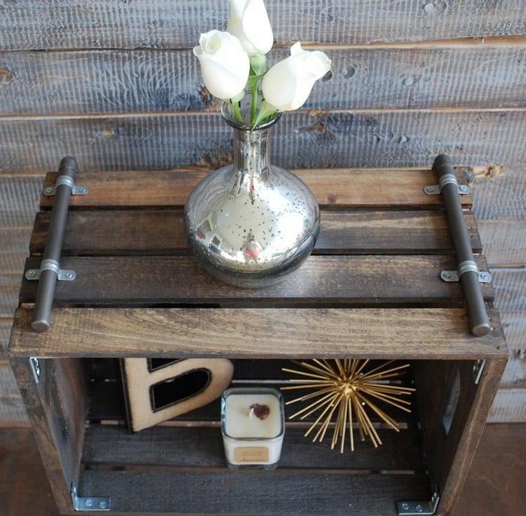 Tisch aus Weinkisten Beistelltisch Bauanleitung