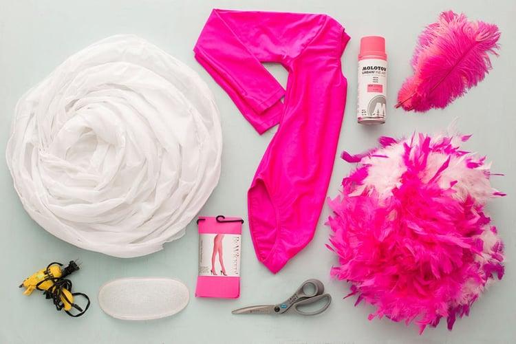 Flamingo Kostüm DIY notwendige Materialien