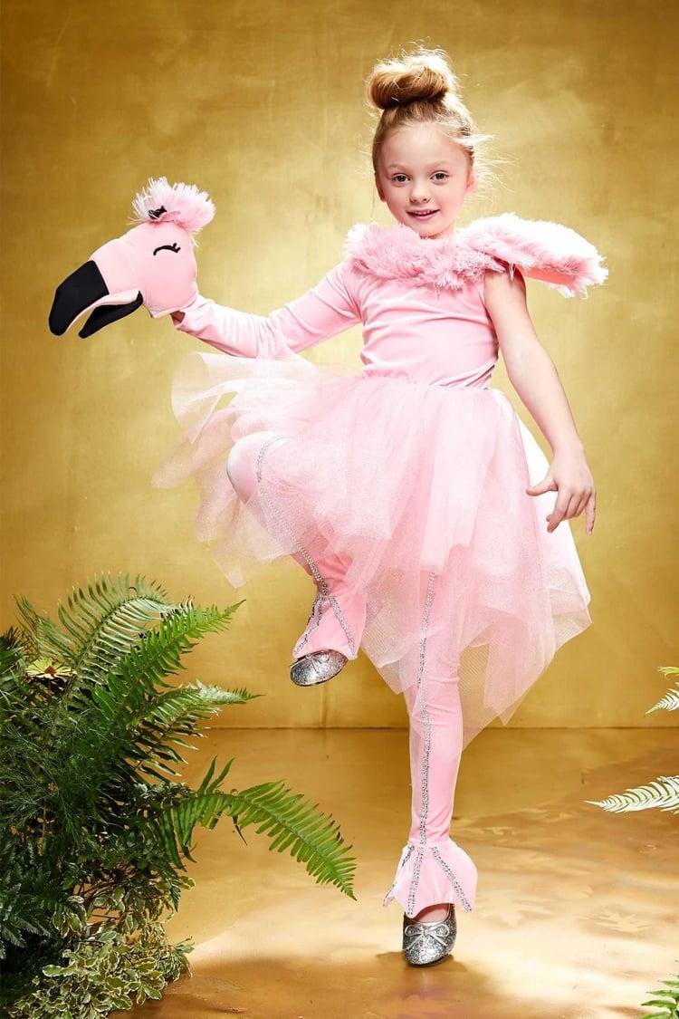 Flamingo Kostüm in Zartrosa Mädchen