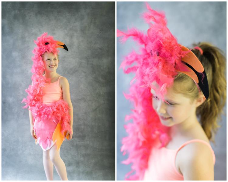 Flamingo Kostüm herrlicher Look Kind