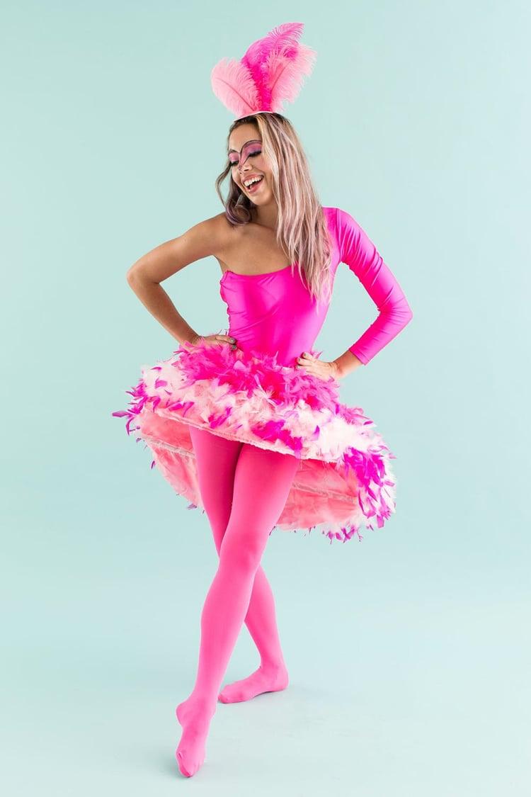 Flamingo Kostüm selber machen Frau