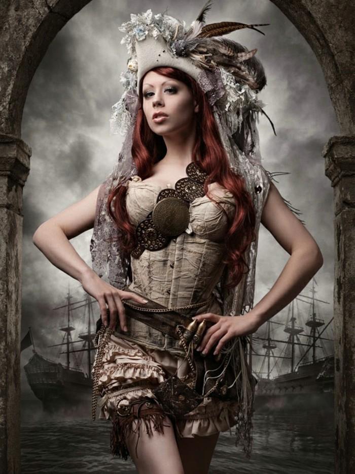 Steampunk Kleidung Frau viktorianischer Stil