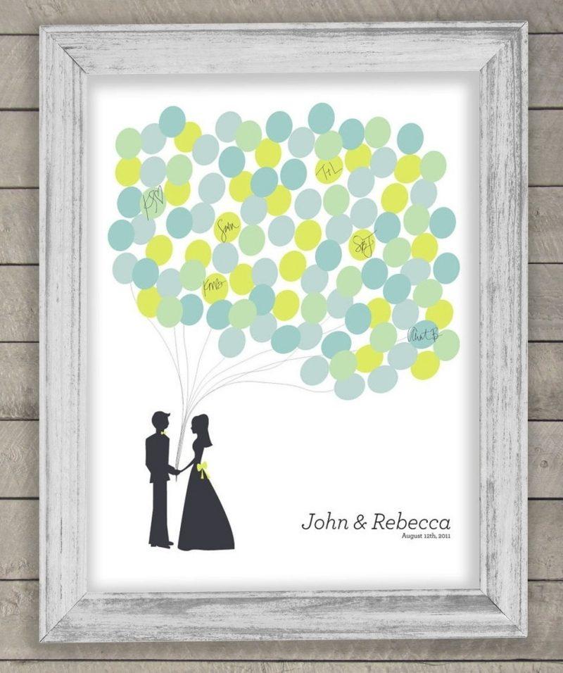 Gästebuch Hochzeit gestalten Ballons