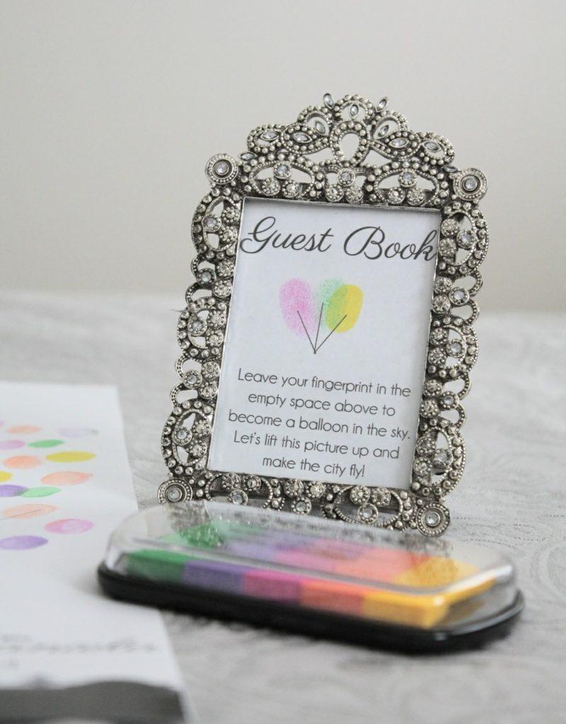 Gästebuch Hochzeit gestalten Fingerabdrücke