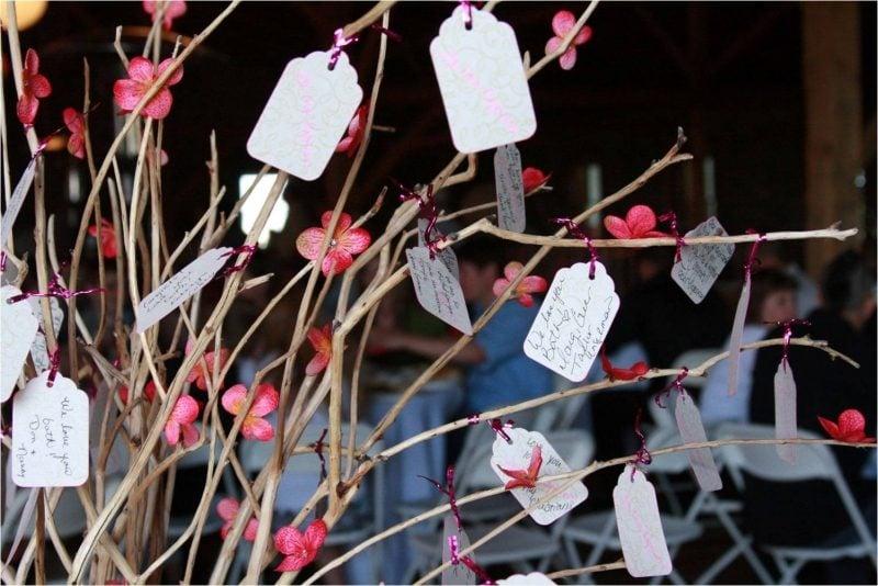 Gästebuch Hochzeit gestalten Glückwunschbaum