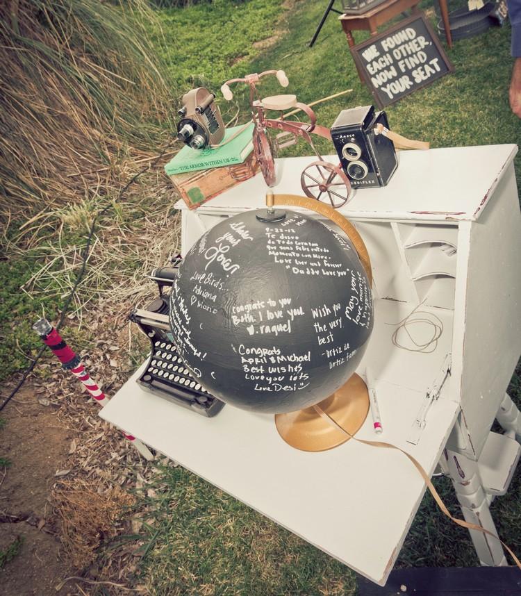 Gästebuch Hochzeit gestalten Globus