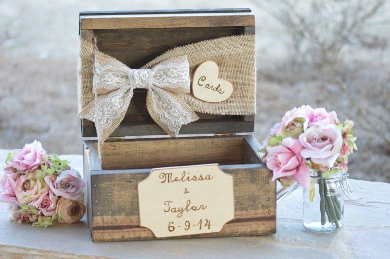 Gästebuch Hochzeit gestalten Vintage Holzkiste
