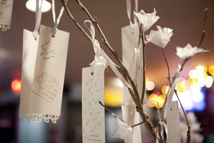 Gästebuch Hochzeit gestalten Wunschbaum
