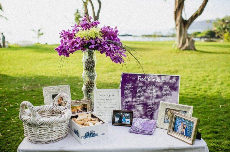 Gästebuch Hochzeit gestalten Dekoideen Tisch