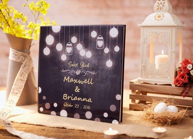Gästebuch Hochzeit gestalten personalisiert
