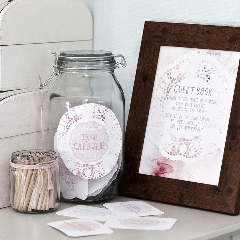 Gästebuch Hochzeit gestalten und verzieren Spitze