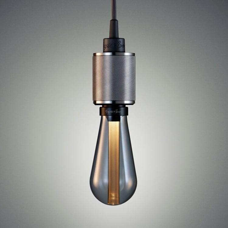 Lampe Glühbirne wirklich modern Fassung Stahl