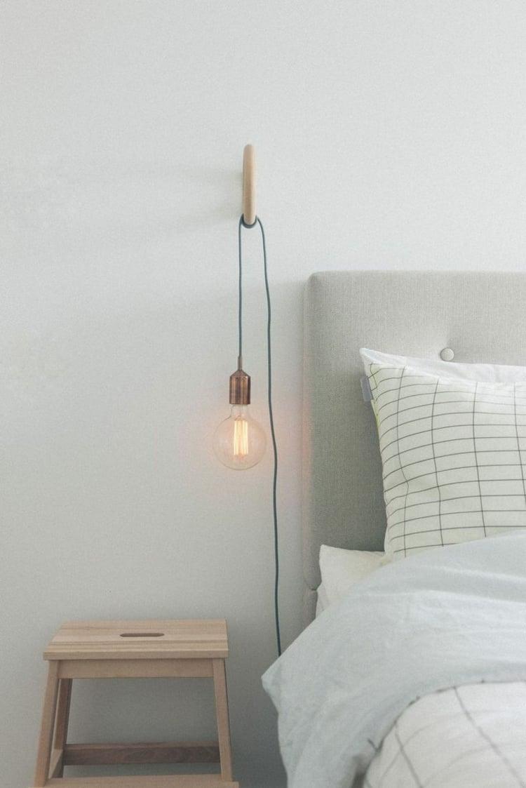Lampe Glühbirne hängende Nachttischleuchte