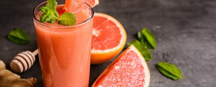Erfrischungsgetränk Grapefruit Minze