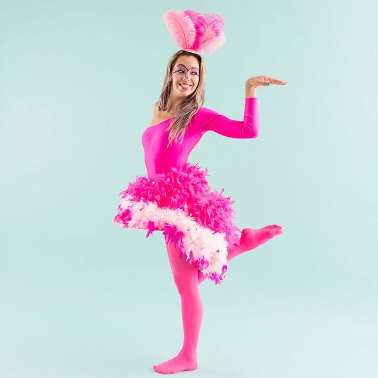 Flamingo Kostüm Karneval Damen DIY