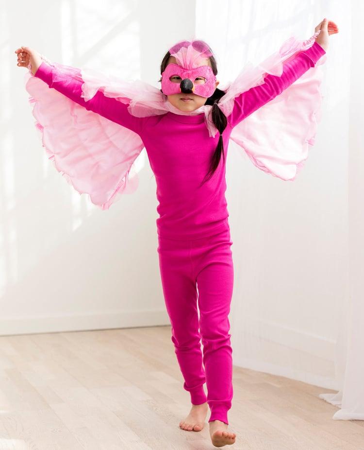 Flamingo Kostüm mit Maske Kind Fasching