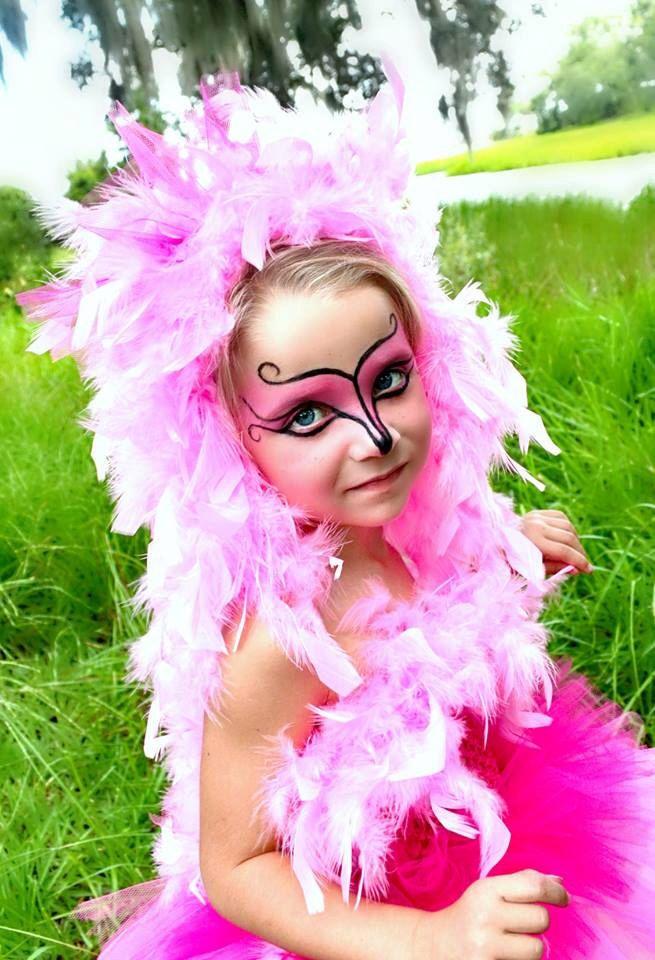 Flamingo Kostüm selber basteln Kind